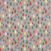 Moda Mon Ami by BasicGrey - 4300 - Pluie, Multicoloured Raindrops on Grey - 30414 20 - Cotton Fabric